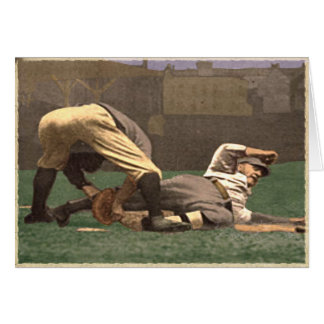 Vintage Baseball Greetings Card