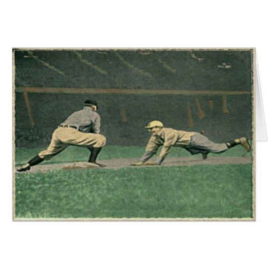 Vintage Baseball Greetings Card