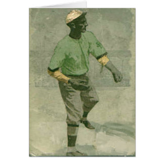 Vintage Baseball Greetings With Style Card