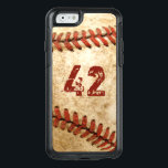 """Vintage Baseball Grunge Look with Your Number OtterBox iPhone 6/6s Case<br><div class=""""desc"""">Decorate your iPhone in Style with this Personalized &quot;Vintage Baseball Grunge Look with Your Number&quot; unique case!</div>"""