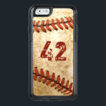 "Vintage Baseball Grunge Look with Your Number OtterBox iPhone 6/6s Case<br><div class=""desc"">Decorate your iPhone in Style with this Personalized &quot;Vintage Baseball Grunge Look with Your Number&quot; unique case!</div>"