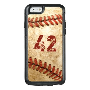 Vintage Baseball Grunge Look With Your Number Otterbox Iphone 6/6s Case by CityHunter at Zazzle