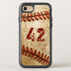 Vintage Baseball Grunge Look With Your Number Otterbox Symmetry Iphone 8/7 Case at Zazzle