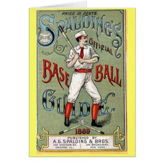 Vintage Baseball Guide Greeting Card