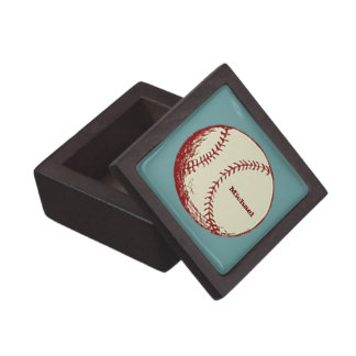 Vintage Baseball Jewelry Box