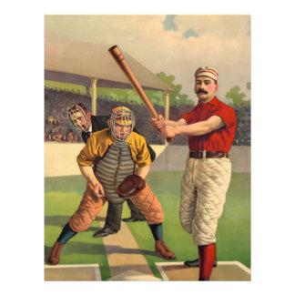 Vintage Baseball Letterhead