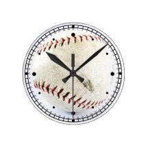 Vintage Baseball or Softball  Stitches Round Wall Clock