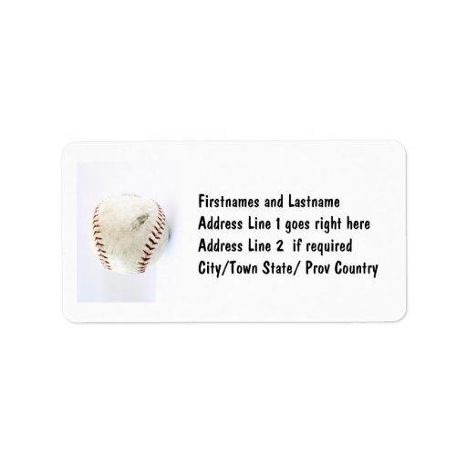 Vintage Baseball or Softball  Stitches Personalized Address Label