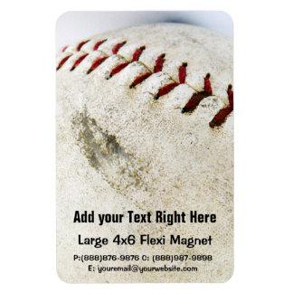 Vintage Baseball or Softball  Stitches Rectangular Photo Magnet