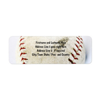 Vintage Baseball or Softball  Stitches Return Address Label