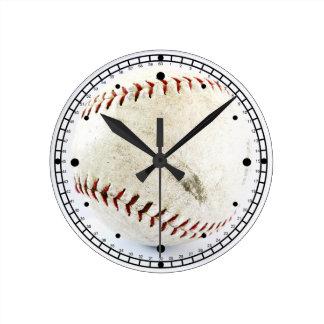 Vintage Baseball or Softball  Stitches Round Clock