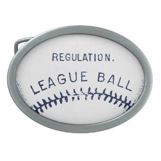 Vintage Baseball Oval Belt Buckle