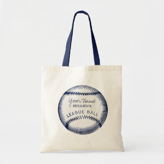 Vintage Baseball, personalized ball Tote Bag