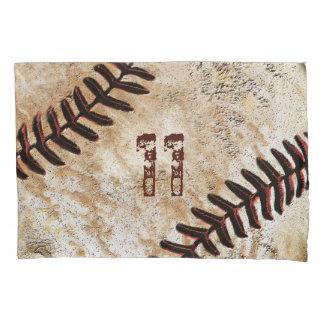 Vintage Baseball Pillow Case, Your Jersey Number Pillowcase