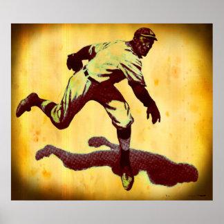Vintage Baseball Pitcher Canvas Print