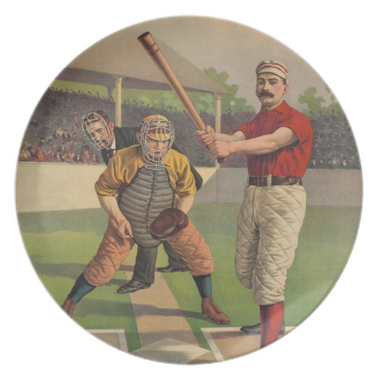 Vintage Baseball Plate