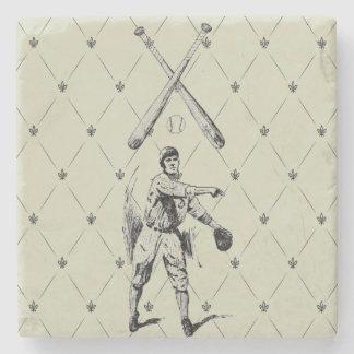 Vintage Baseball Player Stone Coasters
