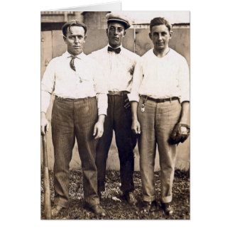 Vintage Baseball Players in the Neighborhood Card