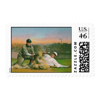 Vintage Baseball Postage Stamp