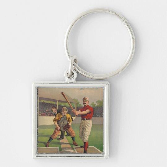 Vintage Baseball Poster Keychain
