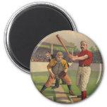 Vintage Baseball Poster Magnet
