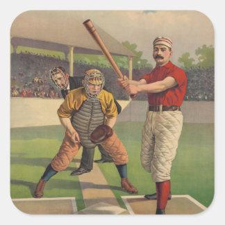 Vintage Baseball Poster Sticker