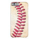 Vintage Baseball Red Stitches Close Up Photo Barely There iPhone 6 Case