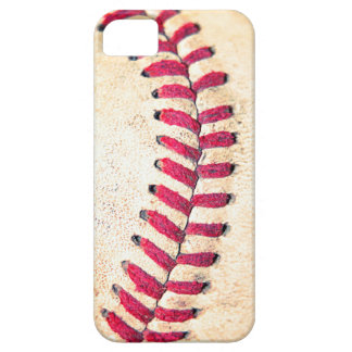 Vintage Baseball Red Stitches Close Up Photo iPhone SE/5/5s Case
