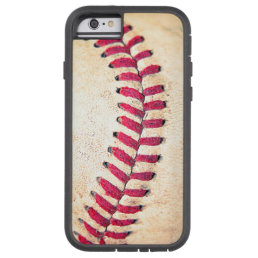 Vintage Baseball Red Stitches Close Up Photo Tough Xtreme iPhone 6 Case