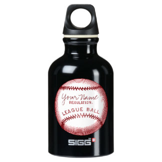Vintage Baseball, Red, White and Blue Water Bottle