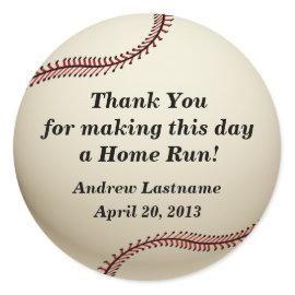 Vintage Baseball Round Sticker