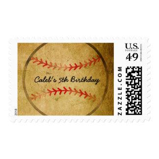 Vintage Baseball Sports Invitation Stamp Postage