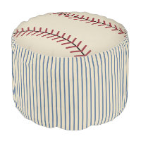 Vintage Baseball Sports Ottoman Kids Pillow Pouf