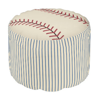 Vintage Baseball Sports Ottoman Kids Pillow Pouf