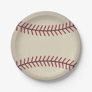 Vintage Baseball Sports Party Paper Plates  sc 1 st  Zazzle : baseball paper plates - pezcame.com