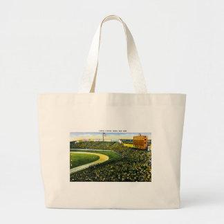 Vintage Baseball Stadium, Bronx, New York Tote Bags