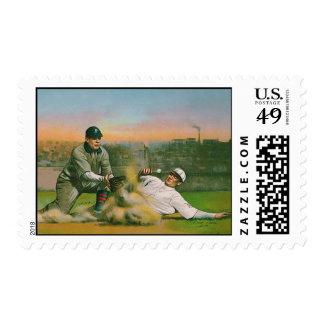 Vintage Baseball Stamp