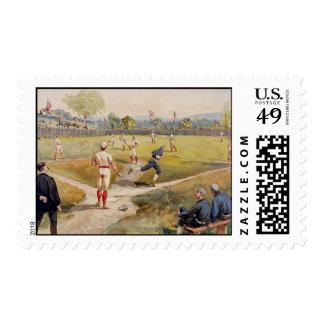 Vintage Baseball Stamps