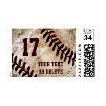 Vintage Baseball Stamps, Your TEXT BULK Discounts Postage