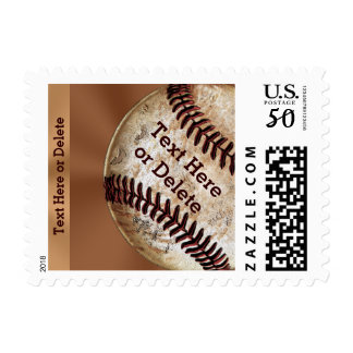 Vintage Baseball Stamps YOUR TEXT & Denomination