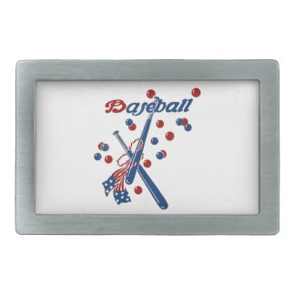 Vintage Baseball Stars and Stripes Belt Buckle
