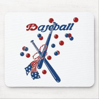 Vintage Baseball Stars and Stripes Mouse Pad
