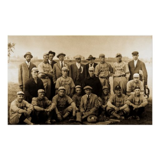 Vintage Baseball Team Poster