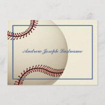 Vintage Baseball Thank You Flat Card