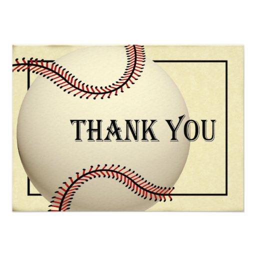 Vintage Baseball Thank You Flat Card 4 5 Quot X 6 25