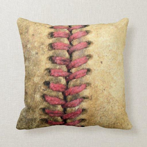 Vintage Baseball Throw Pillow Throw Pillow