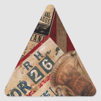 Vintage Baseball Triangle Sticker