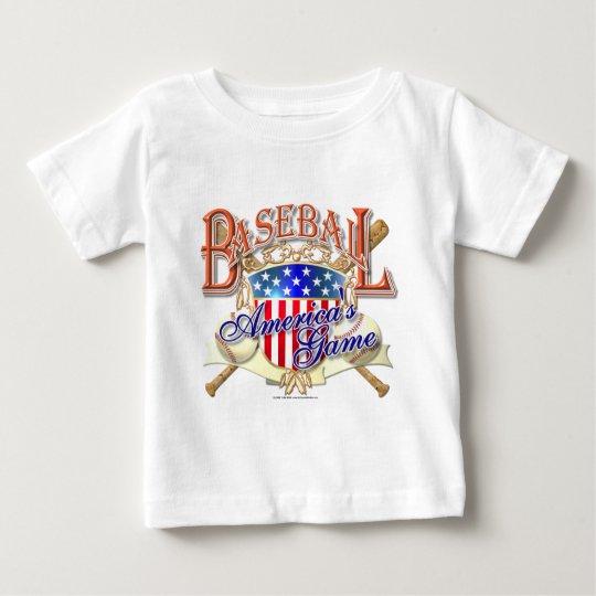 Vintage Baseball USA Shield Baby T-Shirt