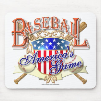 Vintage Baseball USA Shield Mouse Pad