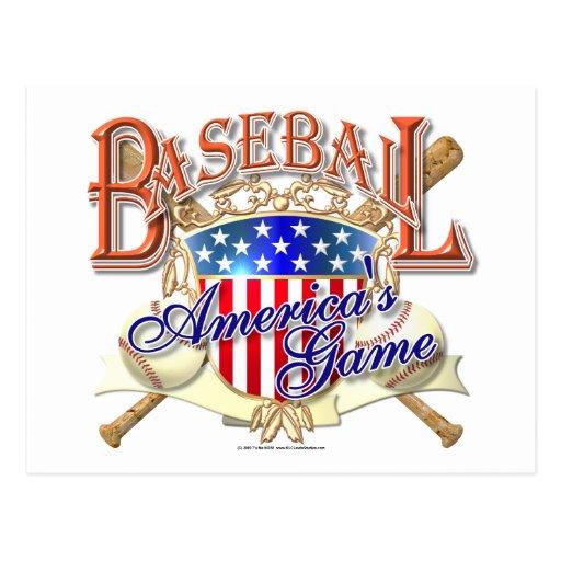 Vintage Baseball USA Shield Postcards